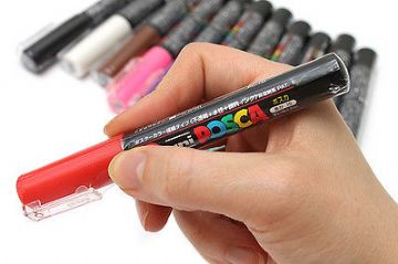 UNI POSCA MARKER PC-1M EXTRA FINE TIP - FULL RANGE of 14 COLOURS  One Pack of 12